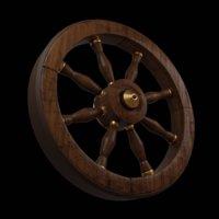 wooden wheel 3D model