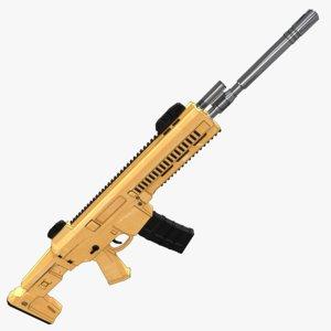 combat rifle acr 3D model