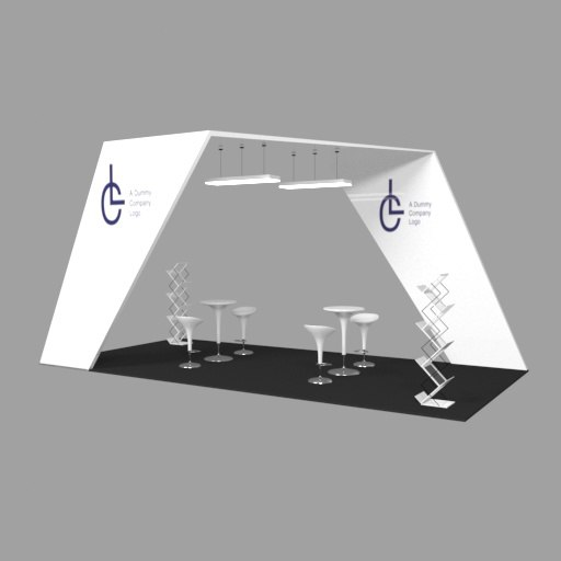 3D exhibition booth bar stools