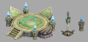 gang - decorative altar 3D model