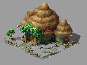 3D snow white cottage 03