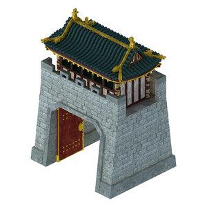 beijing city - gate 3D model