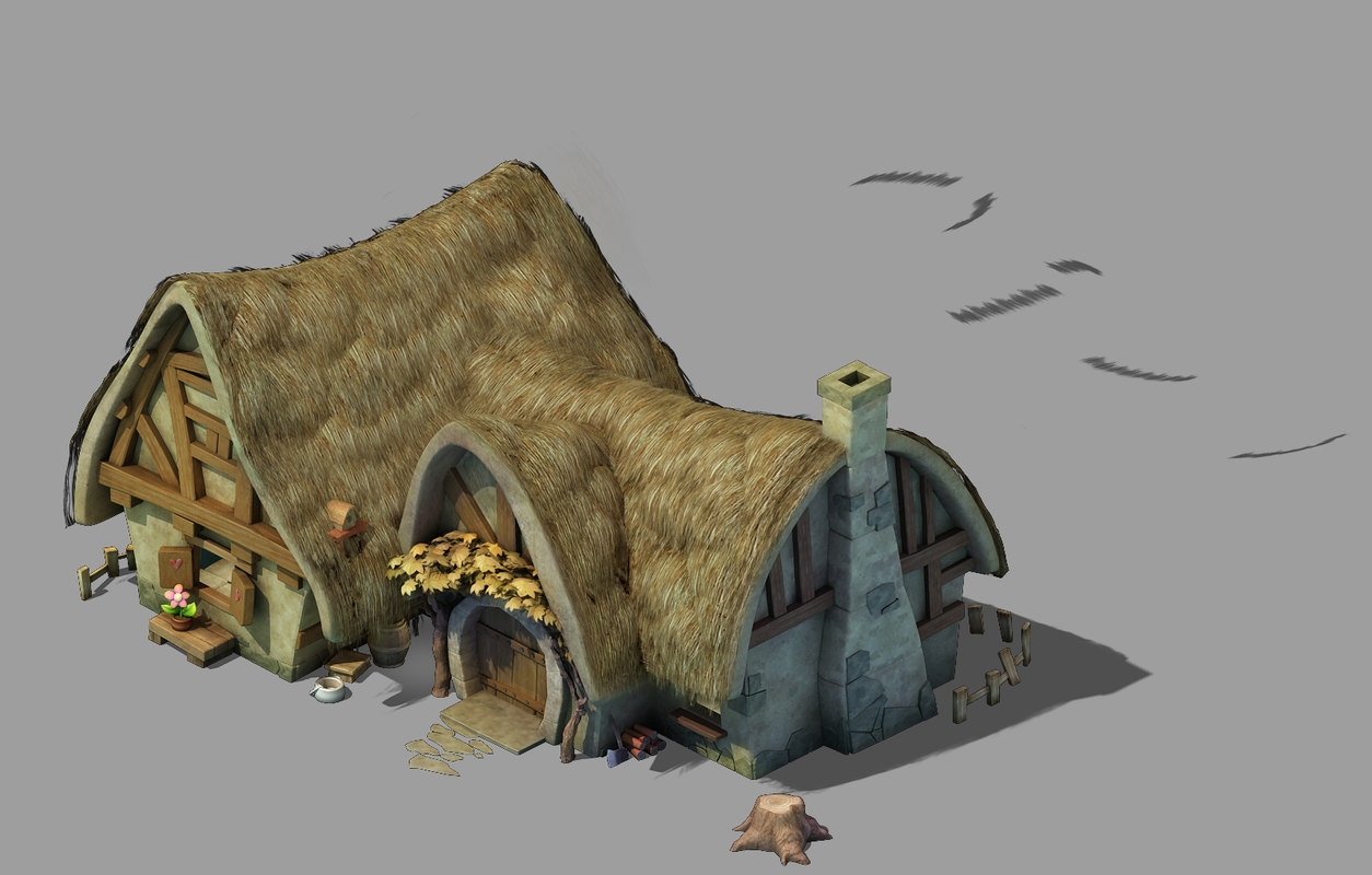 dwarf - cottage 03 3D model