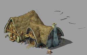 dwarf - cottage 03 3D model
