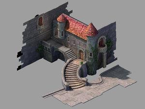 3D snow white - residence model