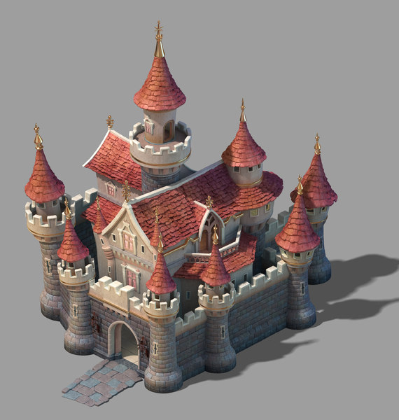snow white - castle 3D model