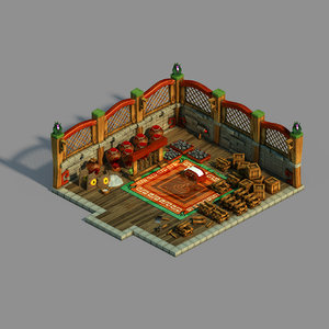 gang interior - warehouse 3D model