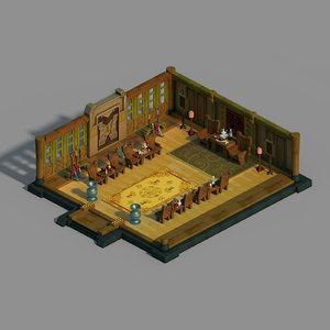 gang indoor - zhongyi 3D model