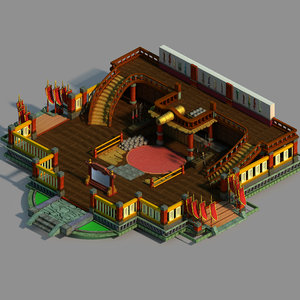 gang interior - advanced 3D model
