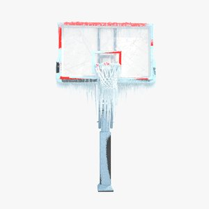 3D winter basketball hoop