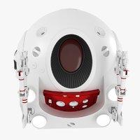 3D red eva pod space model