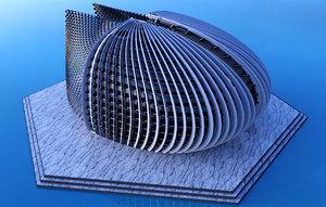 concept art monastery 3D model