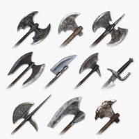 Medieval Cleaving Weapons Pack