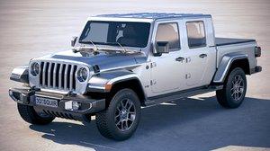 jeep gladiator 2020 3D model