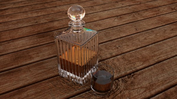 whisky bottle 3D