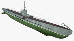 3D soviet submarine c-56 model
