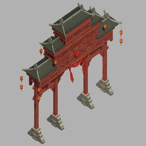 beijing city architecture - 3D model