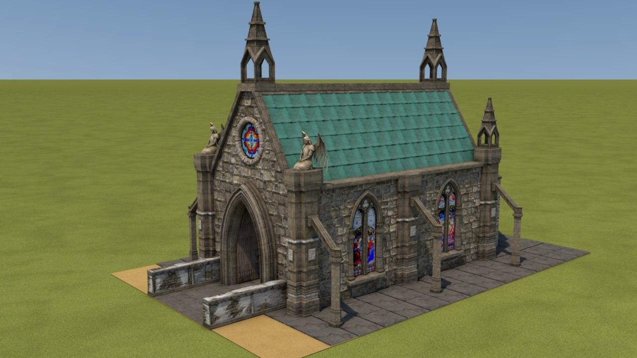 mittelalterliches kapelle church medieval 3D model