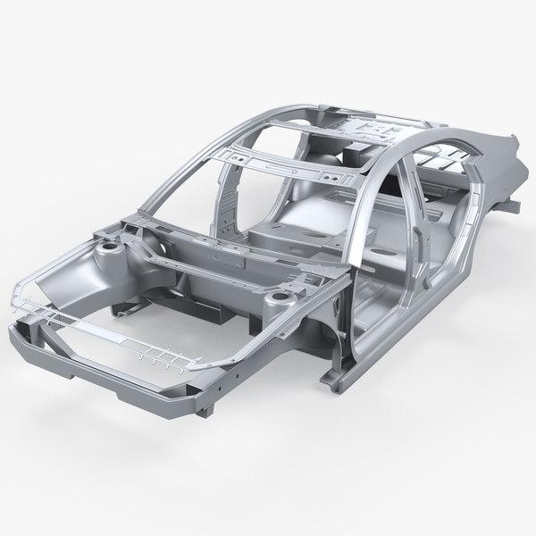 car body frame 3D model