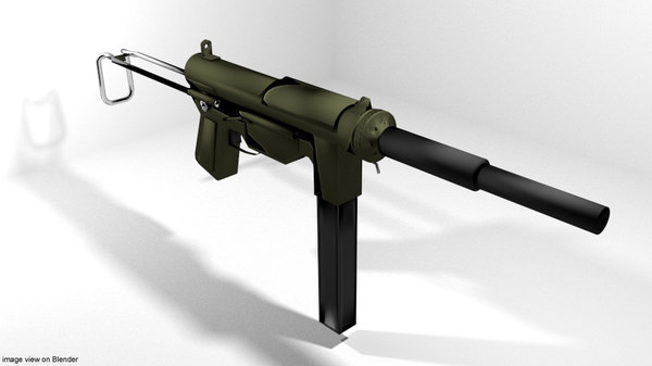 m3a1 grease gun 3D model