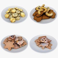 3D christmas cookies food