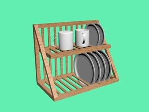 3D plate rack model
