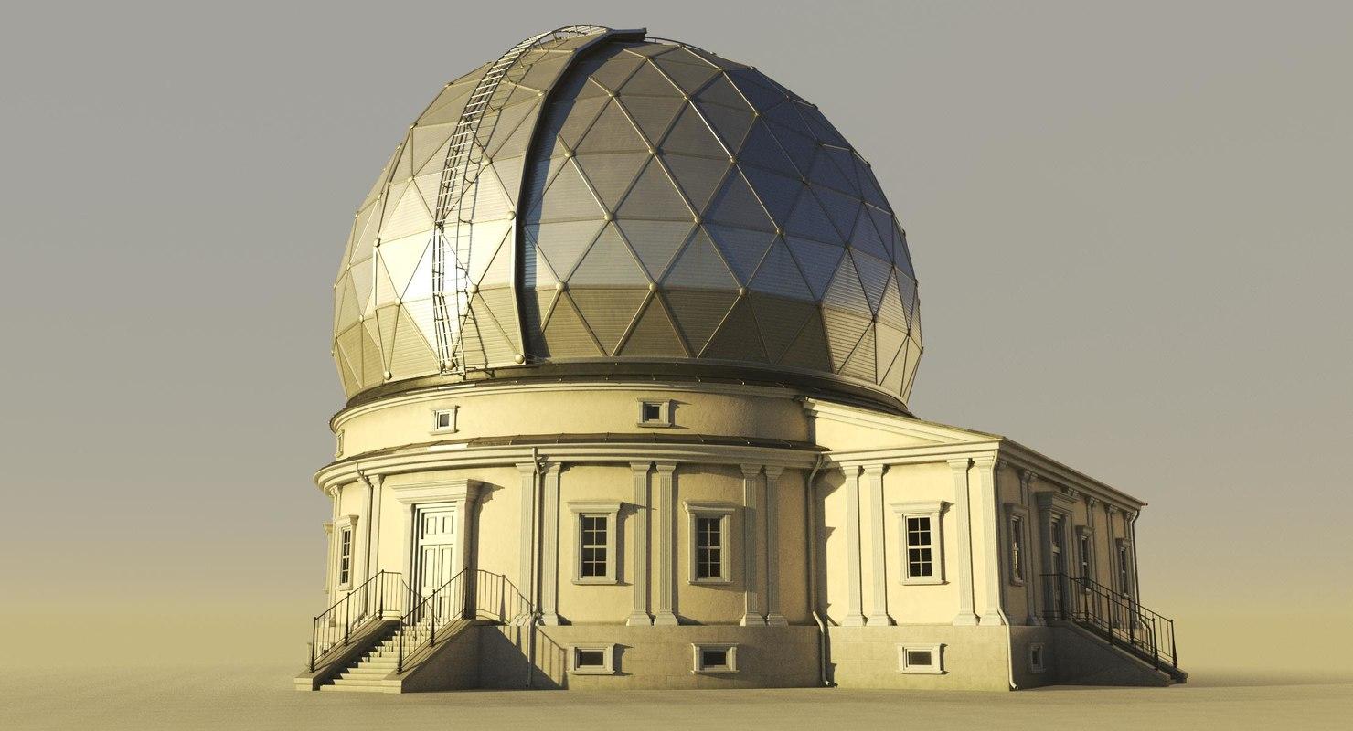 3D model astronomical observatory