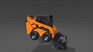 3D bulldozer equipped