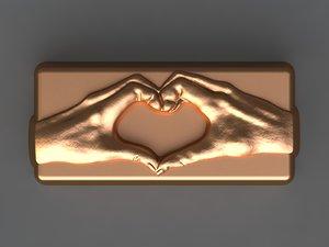 3D hands mold soap model