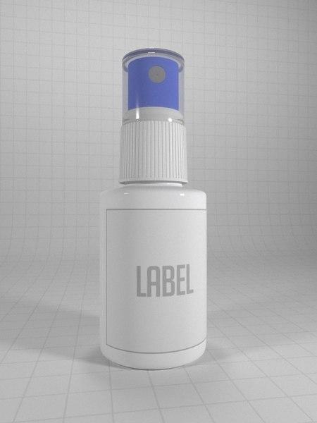 3D model lens cleaner spray