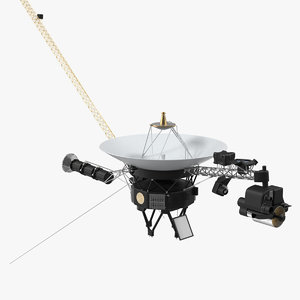 voyager spacecraft probe space 3D model