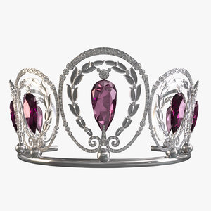 queen diadem 3D model