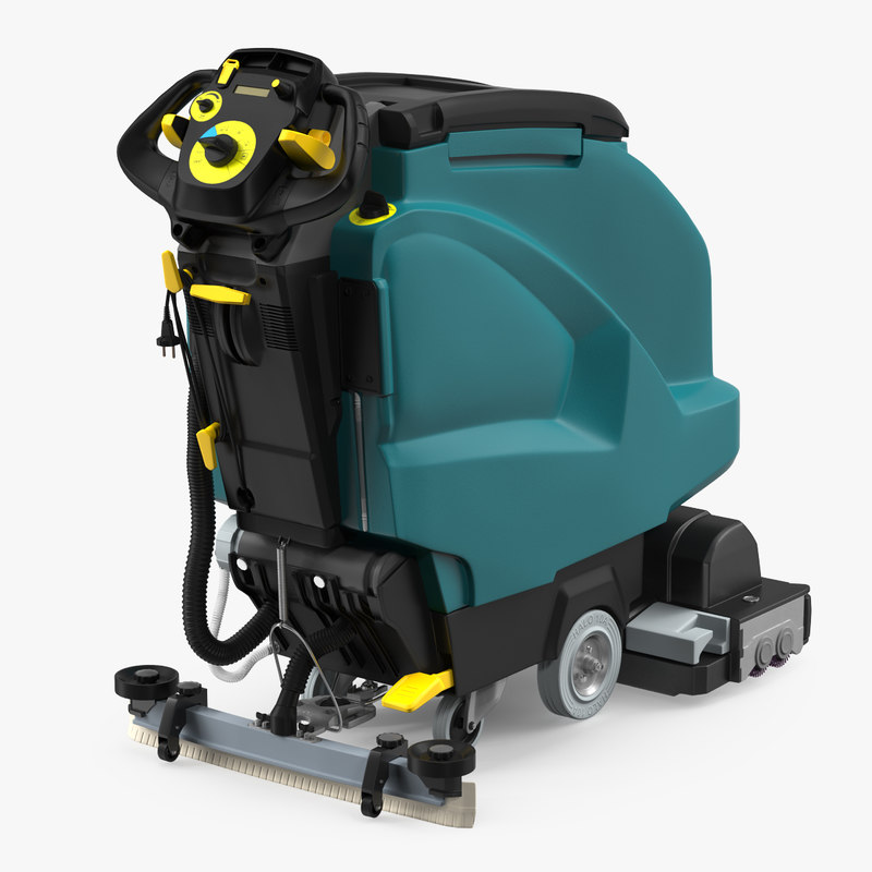 Easy To Clean Commercial Industrial Flooring: 3D Model Industrial Floor Cleaning Machine