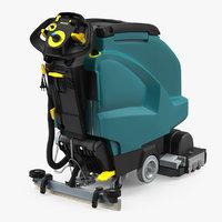 3D model industrial floor cleaning machine