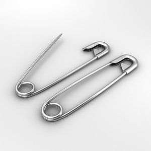 safety pins 3D model
