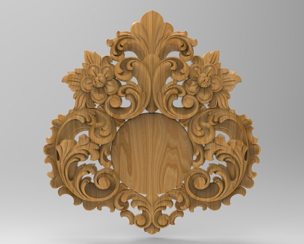 acanthus decor baroque 3D model