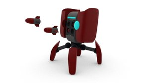 3D robot rig model