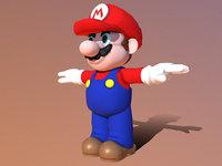 3D mario character model