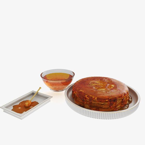 pancakes honey 3D model