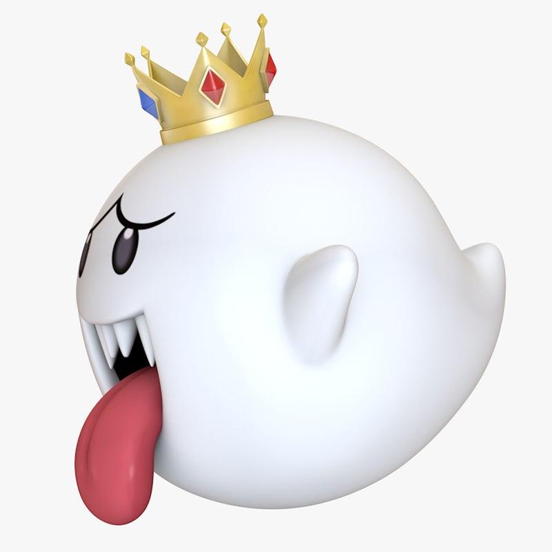 3D king boo super mario