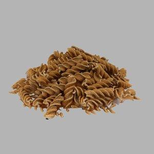 3D pasta wholegrain grain model