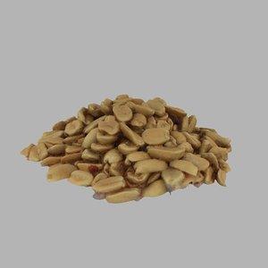 peanuts nuts 3D