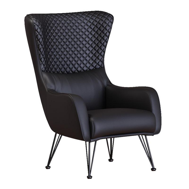 3d Divano Roma Furniture Armchair Turbosquid 1364411