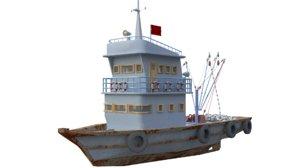 fisherman boat 3D