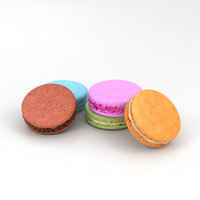 3D french macarons model