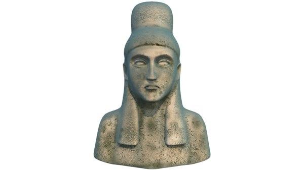 3D cleopatra statue