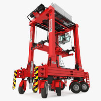 3D model kalmar hybrid straddle carrier