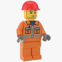 lego construction worker 1 model