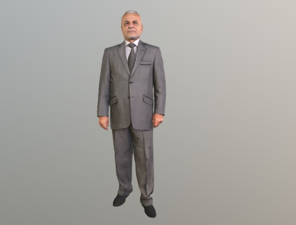 scanned guy standing 3D model