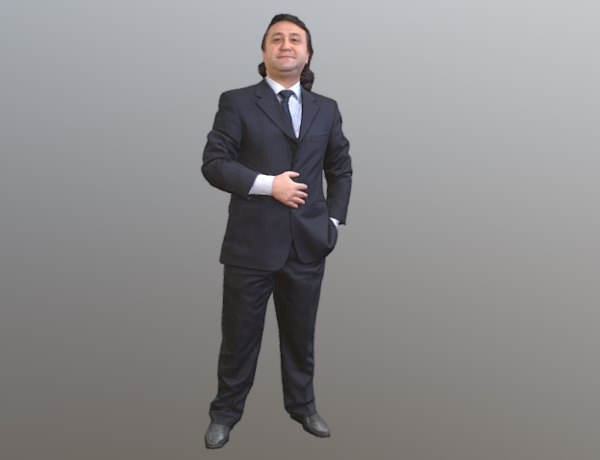 3D scanned guy standing